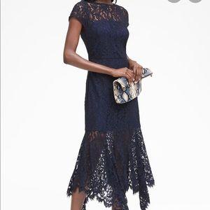 Banana Republic Lace Trumpet Dress